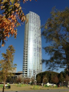 View of Museum Tower from Klyde Warren Park